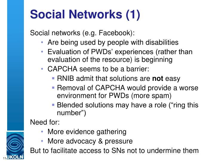 Social Networks (1)