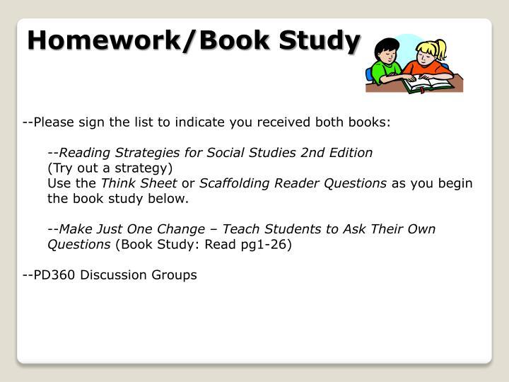 Homework/Book Study