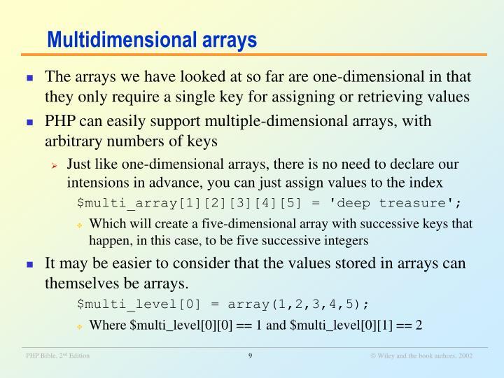 Multidimensional arrays