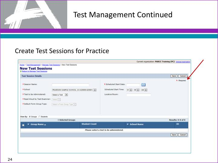Test Management Continued