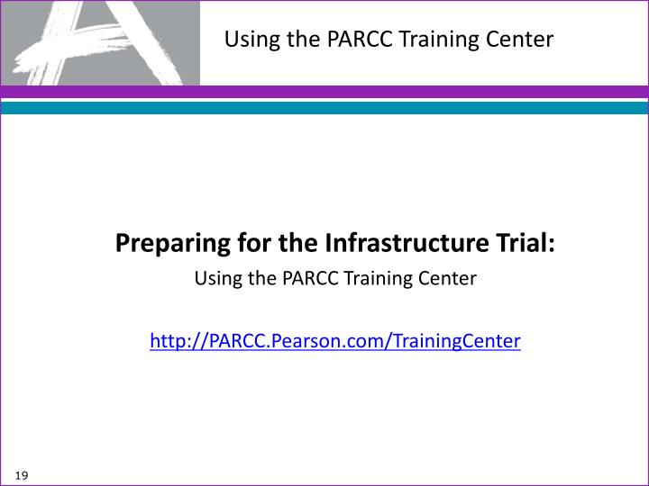 Using the PARCC Training Center