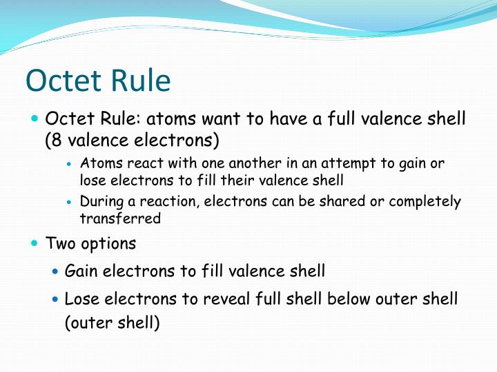 Octet Rule