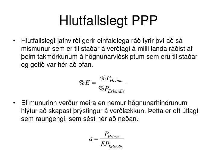 Hlutfallslegt PPP