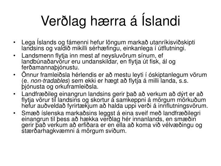 Verðlag hærra á Íslandi
