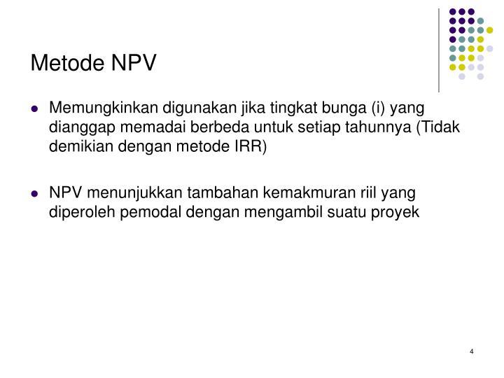 Metode NPV