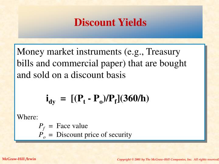 Discount Yields