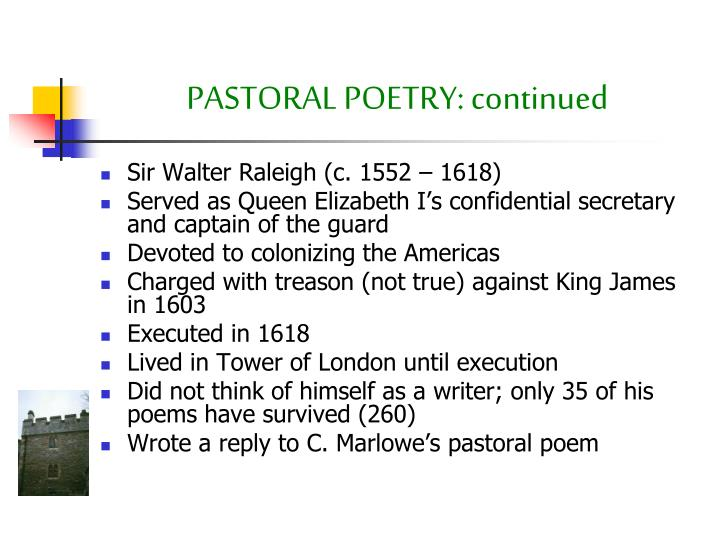 PASTORAL POETRY: continued