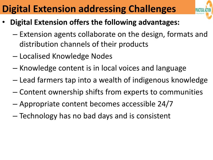 Digital Extension addressing Challenges