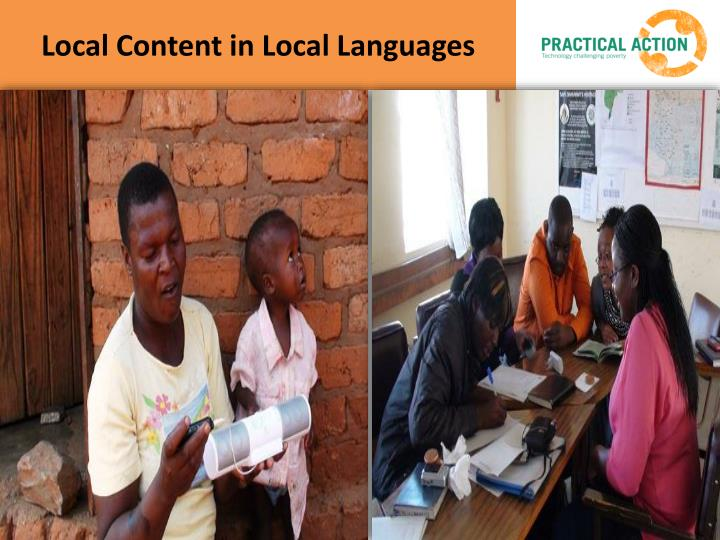 Local Content in Local Languages
