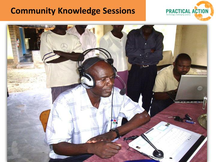 Community Knowledge Sessions
