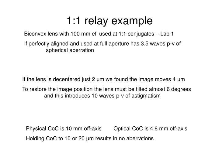 1:1 relay example
