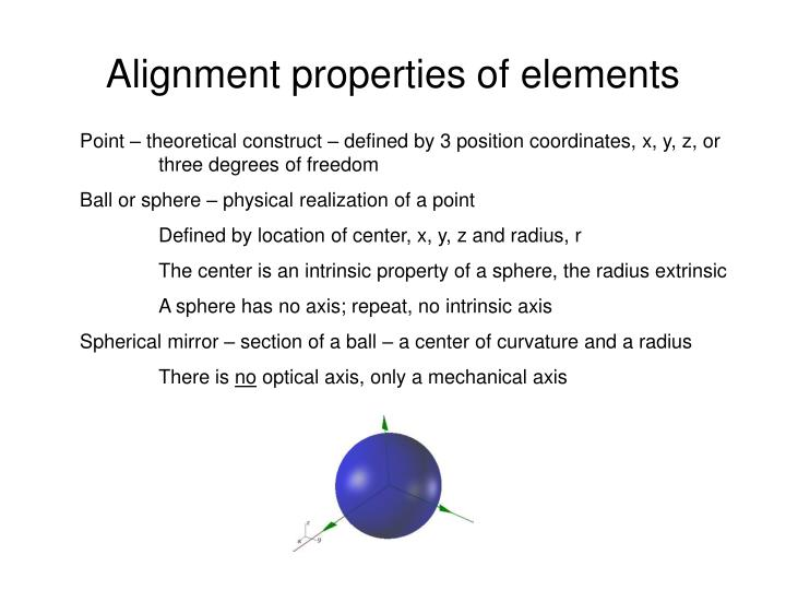 Alignment properties of elements