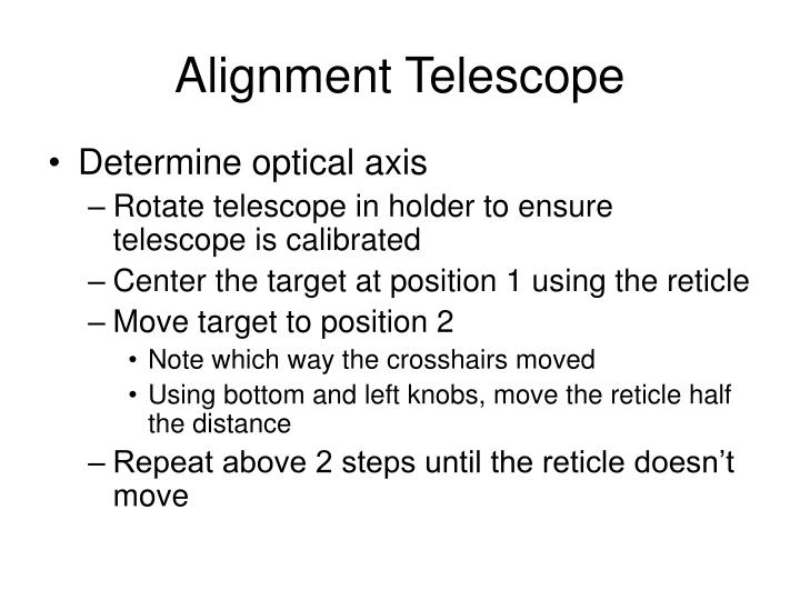 Alignment Telescope