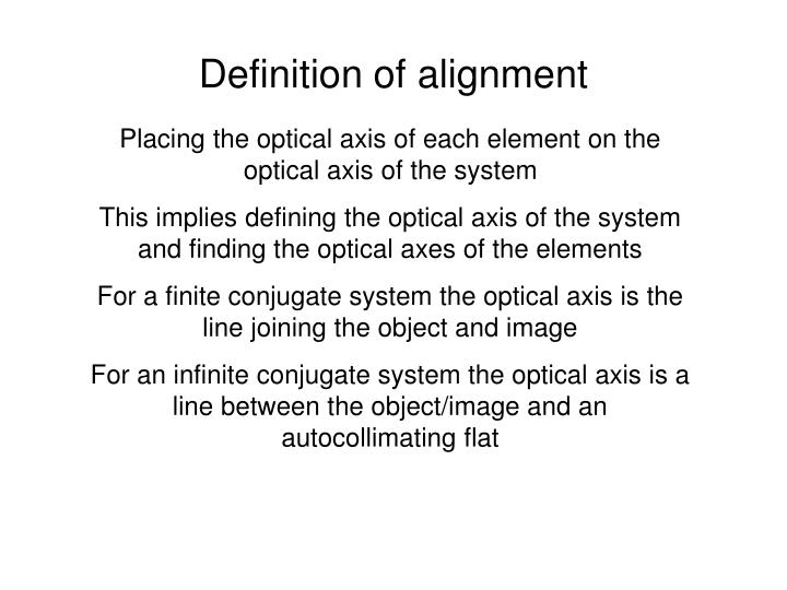 Definition of alignment