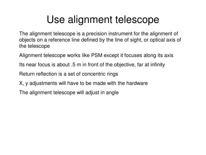 Use alignment telescope
