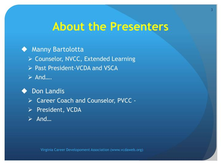 About the Presenters