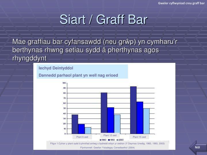 Gweler cyflwyniad creu graff bar