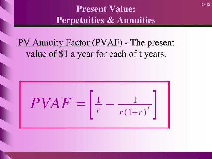 Present Value: