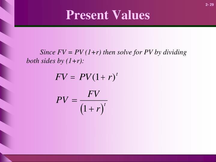 Present Values