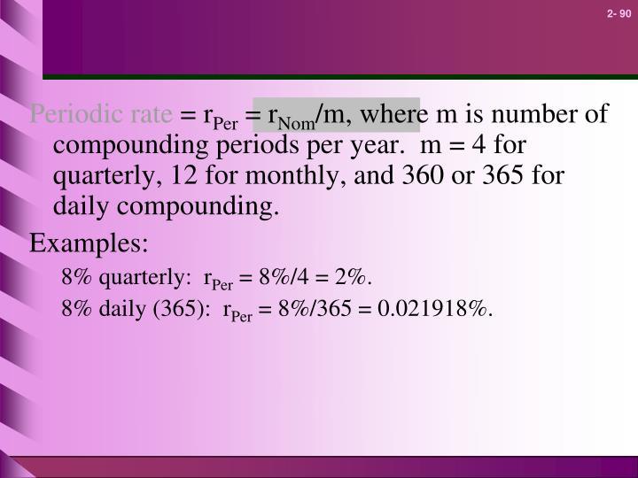 Periodic rate