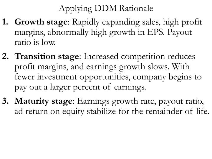 Applying DDM Rationale