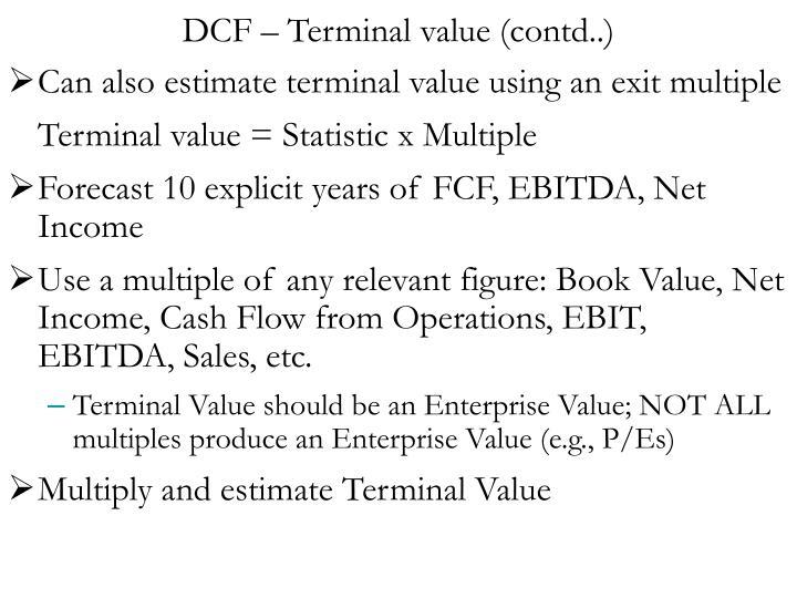 DCF – Terminal value (contd..)