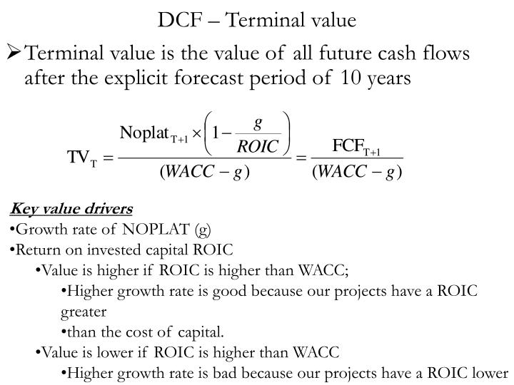 DCF – Terminal value