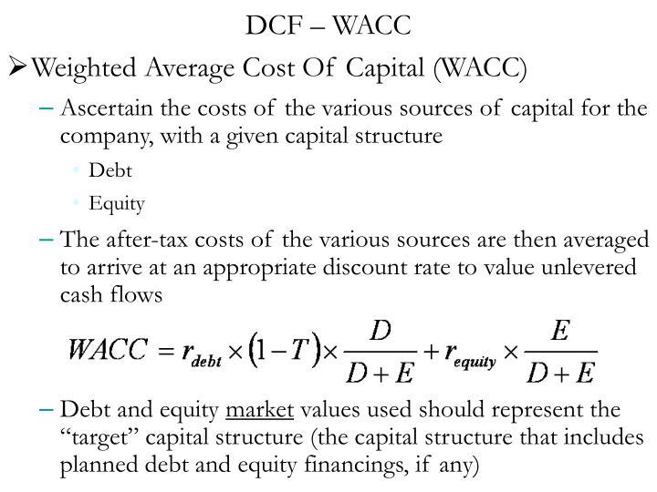 DCF – WACC