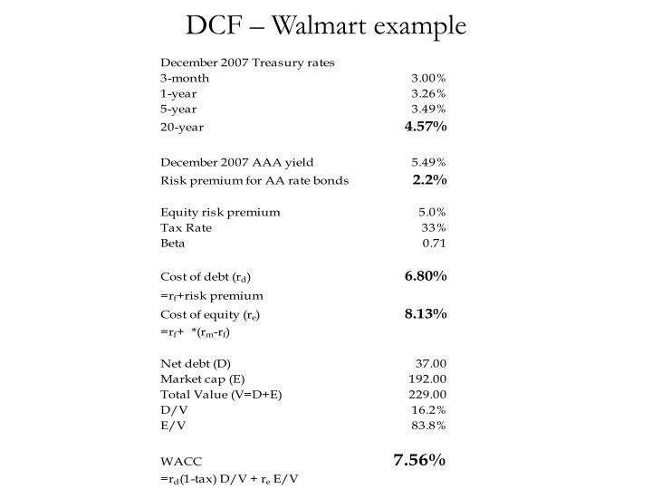 DCF – Walmart example