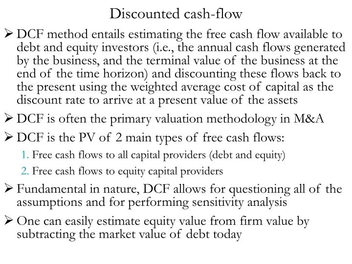 Discounted cash-flow