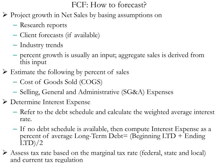 FCF: How to forecast?