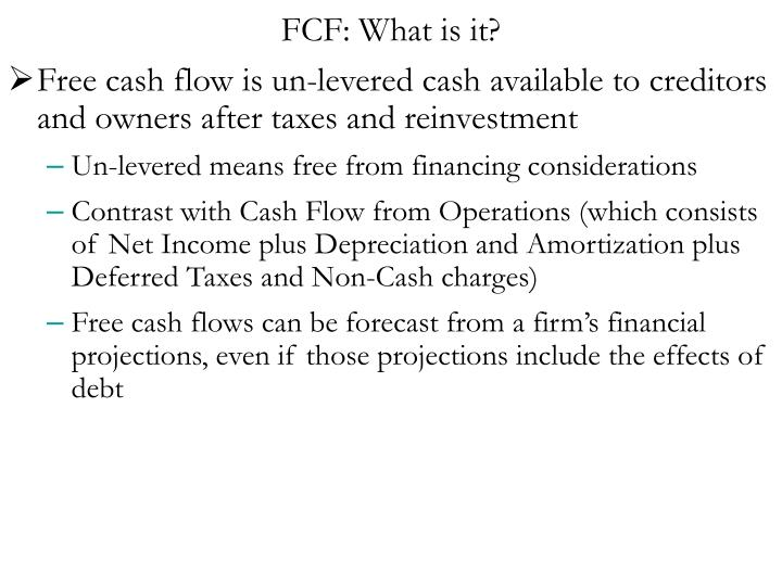 FCF: What is it?