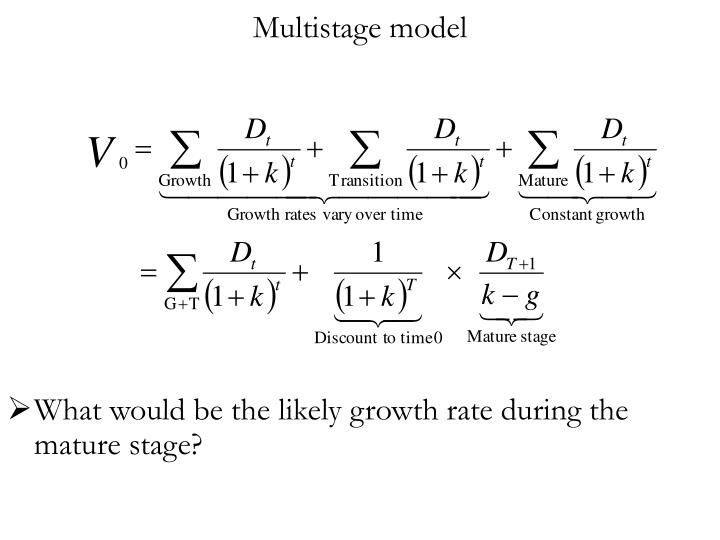 Multistage model