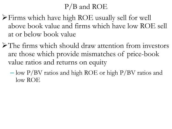 P/B and ROE