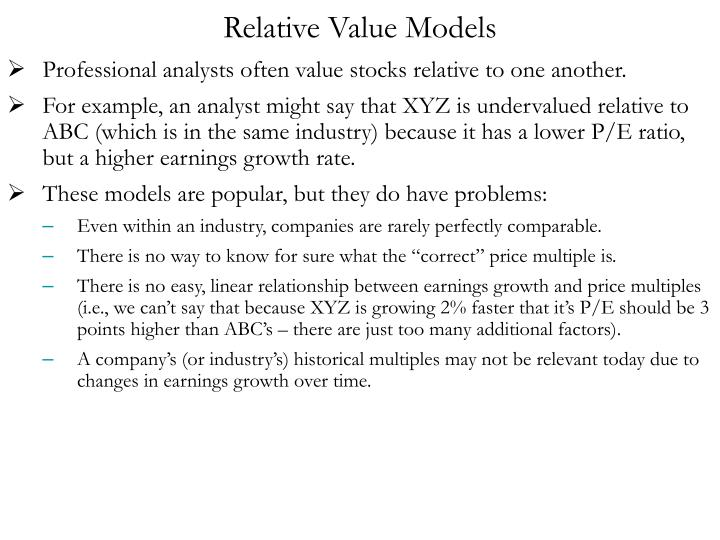 Relative Value Models
