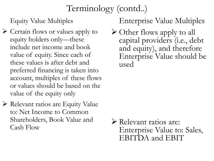 Terminology (contd..)