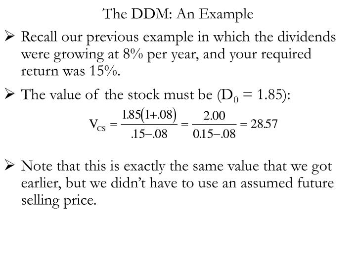 The DDM: An Example