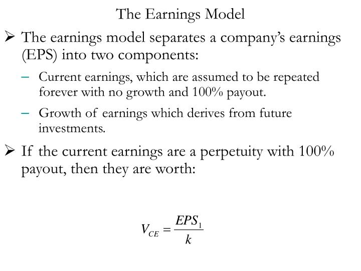 The Earnings Model