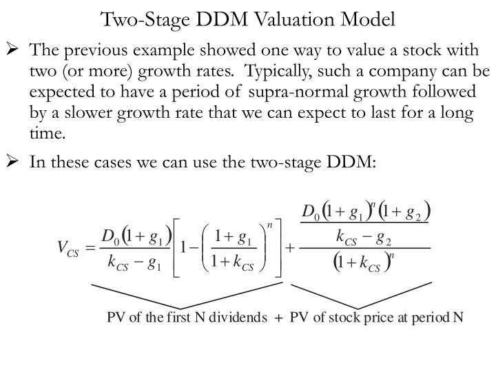 Two-Stage DDM Valuation Model