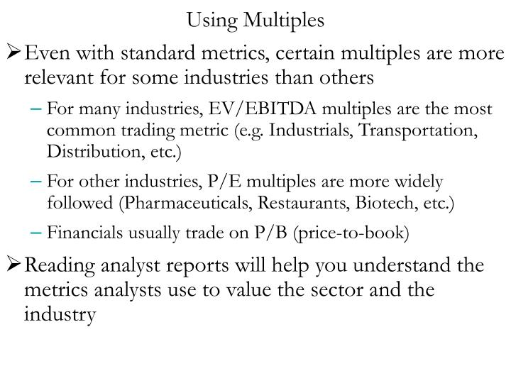 Using Multiples