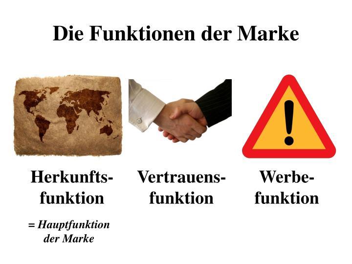 Die Funktionen der Marke