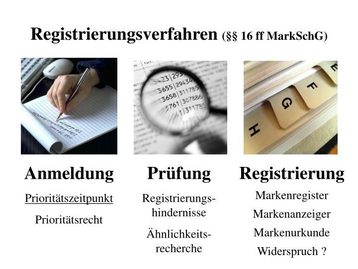 Registrierungsverfahren