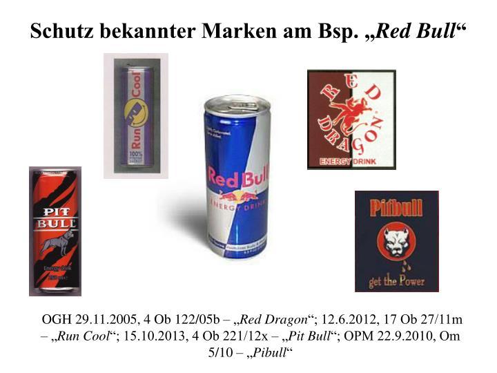 "Schutz bekannter Marken am Bsp. """