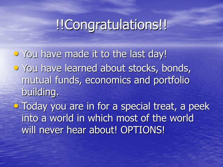 !!Congratulations!!