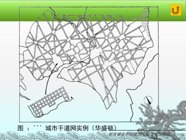 图 :``` 城市干道网实例(华盛顿)