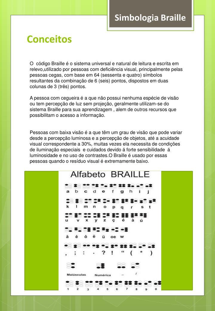 Simbologia Braille