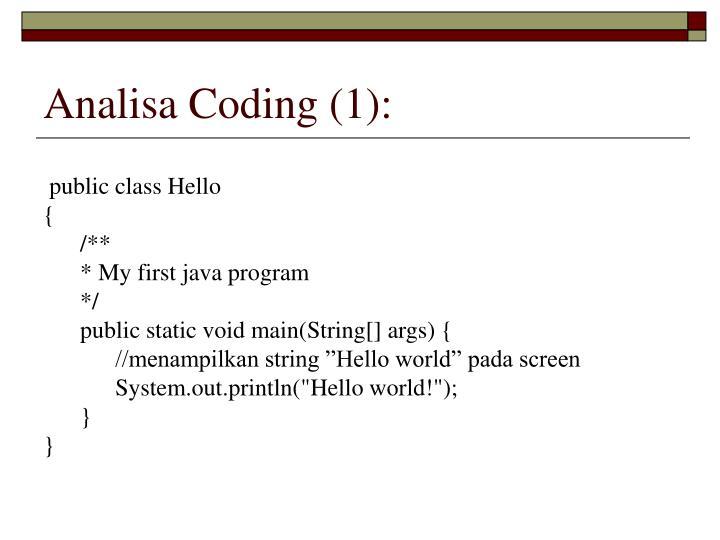 Analisa Coding (1):