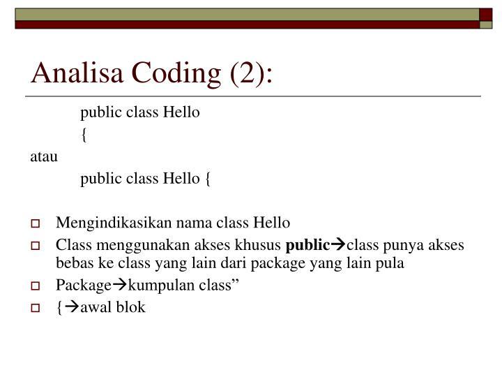 Analisa Coding (2):