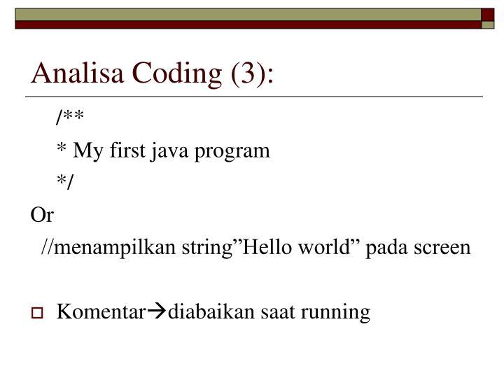 Analisa Coding (3):