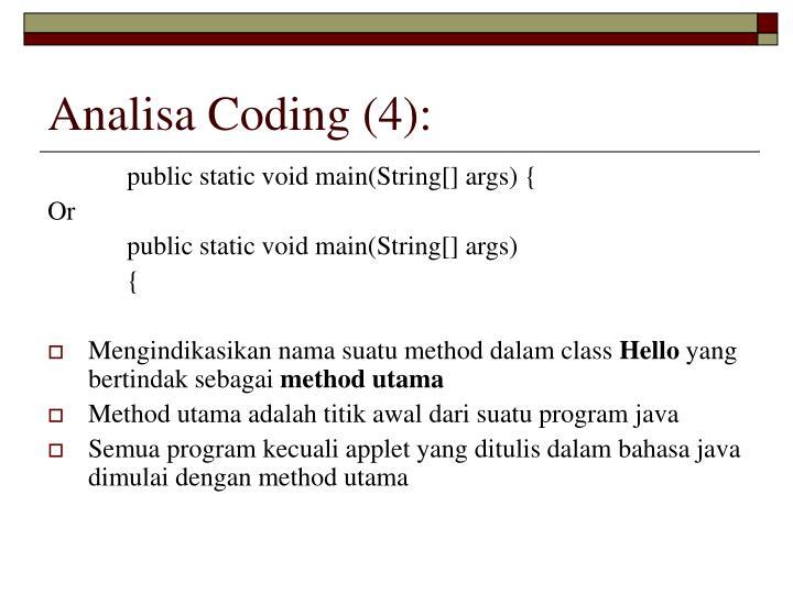 Analisa Coding (4):